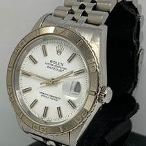 Rolex Datejust Turn-O-Graph usato 36mm Bianco Data Acciaio