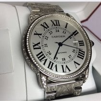 Cartier Ronde Solo de Cartier Platine 42mm Argent Romains France, porte saint cloud