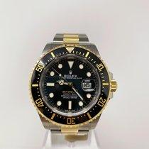 Rolex Sea-Dweller Gold/Stahl 43mm Schwarz Keine Ziffern