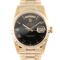 Rolex Day-Date 36 Or jaune 36mm Noir