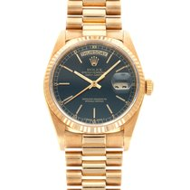 Rolex Day-Date 36 Yellow gold 36mm Blue United States of America, California, Beverly Hills