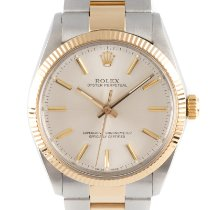 Rolex Oyster Perpetual 34 Acero y oro 34mm Plata