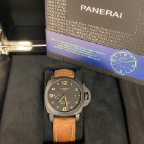 Panerai Luminor 1950 3 Days GMT Automatic Cerámica 44mm Negro Arábigos