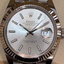 Rolex Datejust Acier 41mm Argent Sans chiffres