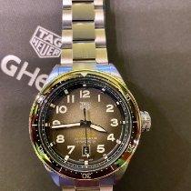 TAG Heuer Autavia Steel 42mm Black Arabic numerals