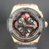 Hublot King Power Oro rosa 48mm Negro Sin cifras