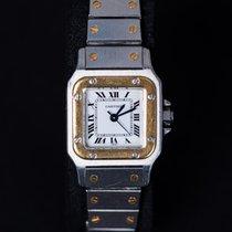 Cartier Santos Galbée Or/Acier 24mm Blanc Romains France, ANGERS
