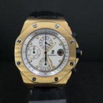 Audemars Piguet Or jaune Remontage automatique Blanc occasion Royal Oak Offshore Chronograph