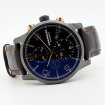 Montblanc Carbon Automatic Black Arabic numerals 43mm pre-owned Timewalker