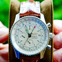 Breitling Navitimer World Steel 46mm Silver United States of America, Connecticut, Milford