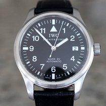 IWC Pilot Mark Сталь 38mm Черный Aрабские