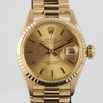Rolex Yellow gold Automatic Gold No numerals 24mm pre-owned Oyster Perpetual