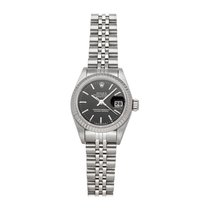 Rolex Lady-Datejust pre-owned 26mm Black Date Fold clasp