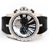 Roger Dubuis White gold Manual winding Black 45mm pre-owned Excalibur