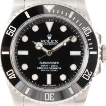 Rolex Submariner (No Date) Zeljezo 40mm Crn