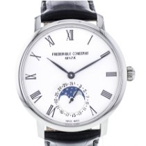 Frederique Constant Manufacture Slimline Moonphase Acier 42mm France, Lyon