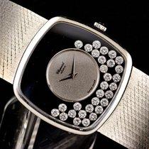 Chopard Happy Diamonds Złoto białe 32mm Czarny Bez cyfr Polska, Bytom