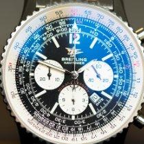 Breitling Navitimer gebraucht 41mm Schwarz Chronograph Datum Stahl