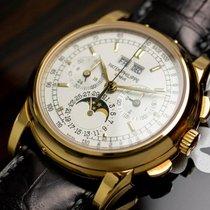 Patek Philippe Geelgoud Handopwind Zilver 40mm tweedehands Perpetual Calendar Chronograph