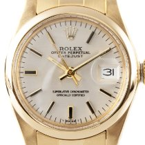 Rolex Oyster Perpetual Lady Date Yellow gold 26mm Silver