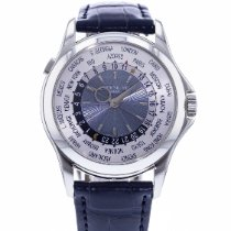 Patek Philippe World Time pre-owned 40mm Blue GMT Leather