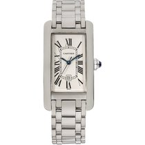 Cartier White gold Automatic White 23mm pre-owned Tank Américaine