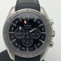 Omega Speedmaster Broad Arrow occasion 44mm Noir Chronographe Date GMT Caoutchouc