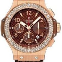 Hublot Big Bang 41 mm pre-owned 41mm Brown Chronograph Date Rubber