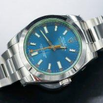 Rolex Milgauss Сталь 40mm Синий Без цифр