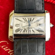 Cartier Tank Divan pre-owned 38mm White Leather