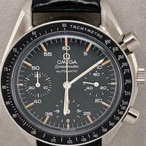 Omega Speedmaster Reduced pre-owned 39mm Black Chronograph Double chronograph Flyback Calf skin