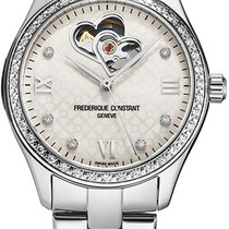 Frederique Constant Ladies Automatic Double Heart Beat Steel White United States of America, New York, Brooklyn