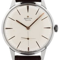 Zenith Sporto Stal 37mm Srebrny
