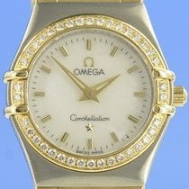 Omega Constellation Ladies Gold/Steel 23mm Mother of pearl