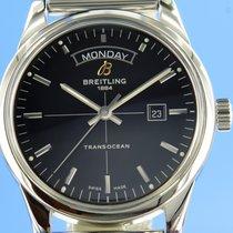 Breitling Transocean Day & Date Сталь 43mm Черный