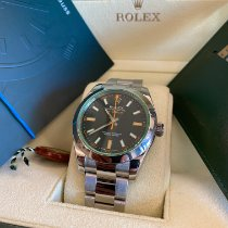 Rolex Milgauss Ocel 40mm Černá Bez čísel