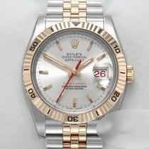 Rolex Datejust Turn-O-Graph Gold/Steel 36mm Silver No numerals