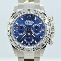 Rolex Daytona Or blanc 40mm Bleu Arabes