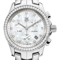 TAG Heuer Link Lady pre-owned 32mm Mother of pearl Steel
