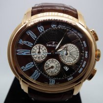 Audemars Piguet Millenary Chronograph pre-owned 47mm Brown Chronograph Date Tachymeter Crocodile skin