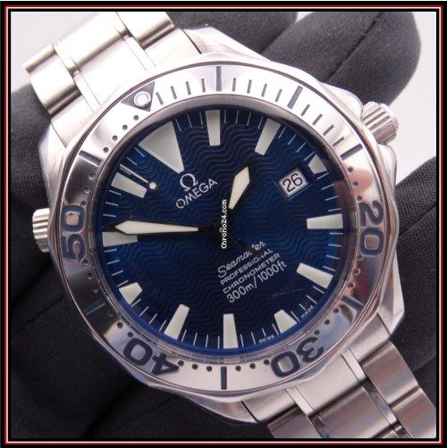 Omega Seamaster Diver 300 M 2255.80.00 Electric Blue 2006 подержанные