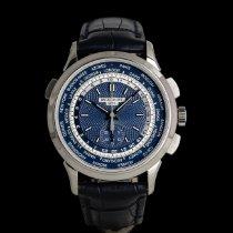 Patek Philippe World Time Chronograph Oro blanco 40mm Azul