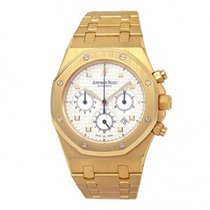 Audemars Piguet Yellow gold Automatic Silver 39mm pre-owned Royal Oak Offshore Chronograph