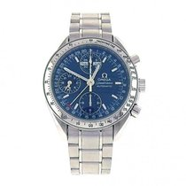 Omega Steel Automatic Blue pre-owned Speedmaster Day Date