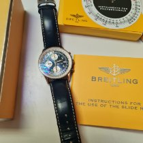 Breitling Old Navitimer occasion Noir Chronographe Date Cuir
