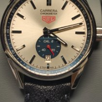 TAG Heuer Carrera Calibre 6 pre-owned 39mm Silver Date Leather