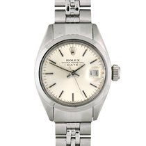 Rolex Steel Automatic Silver No numerals 26mm pre-owned Oyster Perpetual Lady Date