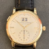 A. Lange & Söhne Yellow gold Automatic White No numerals 37mm pre-owned Langematik