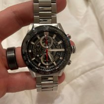TAG Heuer Carrera Calibre HEUER 01 Steel 43mm Black No numerals United States of America, Texas, pilot point