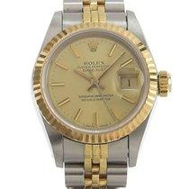 Rolex Lady-Datejust Сталь 25mm Золотой